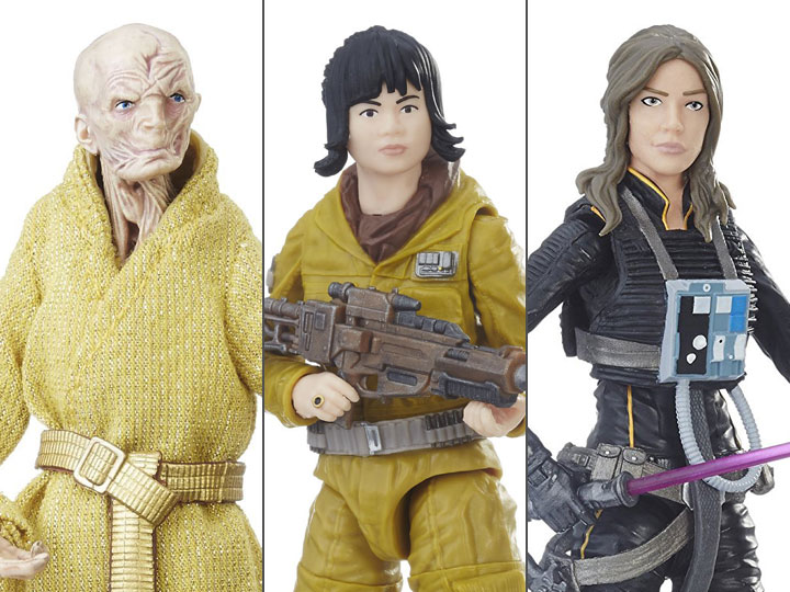Star Wars Black - Jaina Solo, Tech Rose, Supreme Leader Snoke, Wave 25 Case