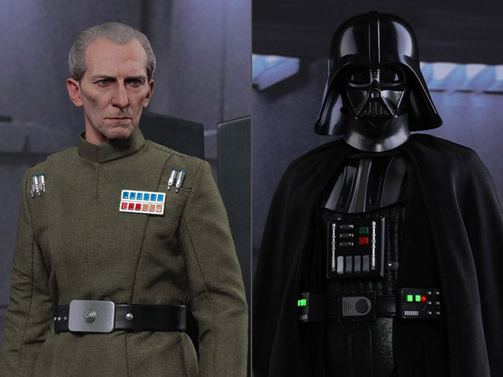 New Hot Toys 1/6 Grand Moff Tarkin & Darth Vader