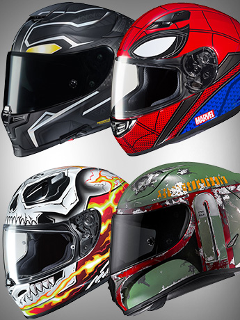 Marvel & Star Wars Motorcycle Helmets