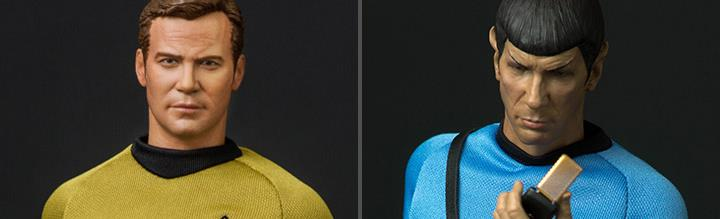 Star Trek: The Original Series Captain Kirk & Spock 1/6 Scale Limited Edition Figures