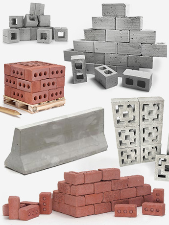 Mini Materials Real Cement 1/12, 1/6, 1/18, 1/24 Scale Bricks, Blocks & More!