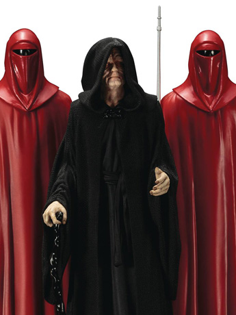 New Kotobukiya Star Wars - Emperor Palpatine With Royal Guards Statue Three Pack & More
