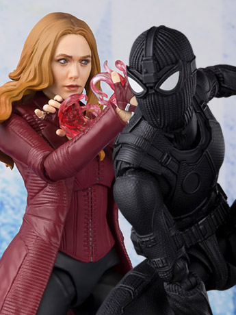 Marvel S.H.Figuarts Spider-Man (Stealth Suit) & Scarlet Witch Exclusives