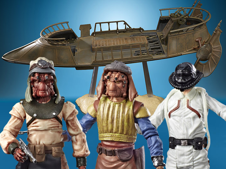 Star Wars: Vintage Collection Desert Skiff & Guard Three-Pack