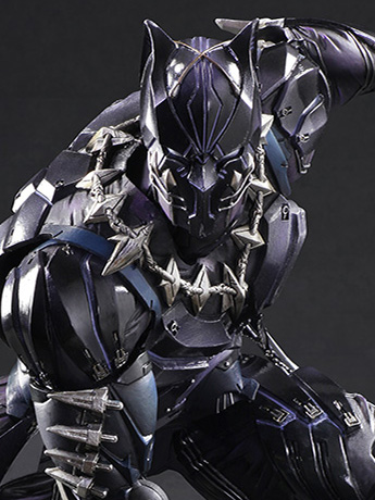 New Square Enix Play Arts Kai - Black Panther & Tactical Suit Batman