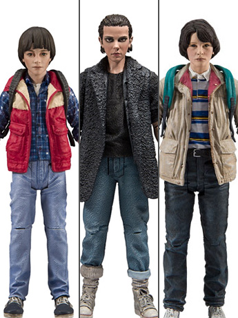 New Stranger Things Eleven, Mike, & Will Action Figures