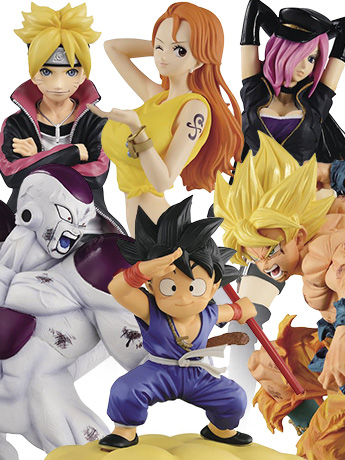 New Banpresto Dragon Ball, One Piece, Boruto & More