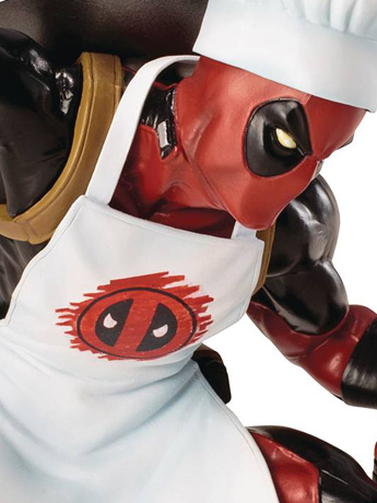 Deadpool Cook Statue & More