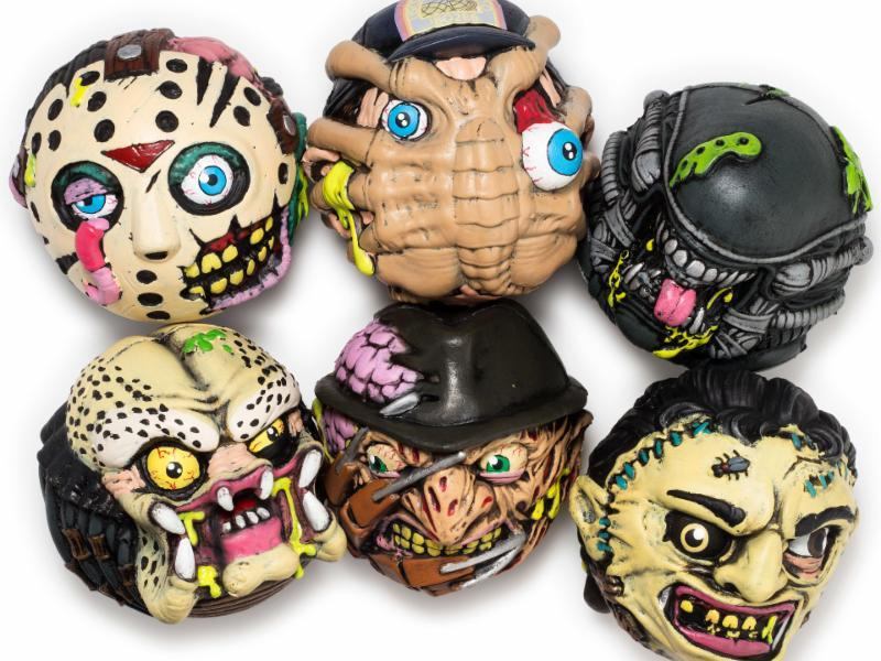 New Kidrobot Madballs Horrorball - Jason, Freddy, Leatherface, Alien, Predator